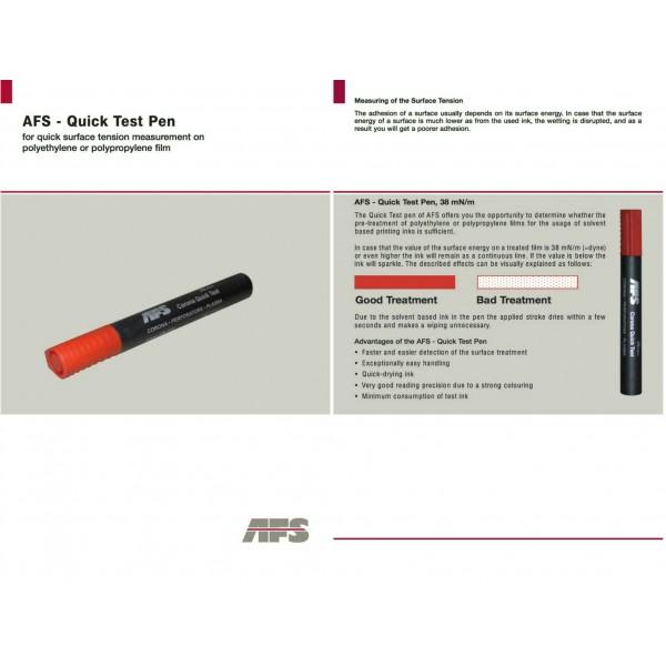 AFS Quickt test pen corona 38 dyn/cm