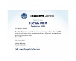 Hosokawa Alpine News Flash Blown Film September 2021